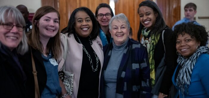 A group of ladies smiling