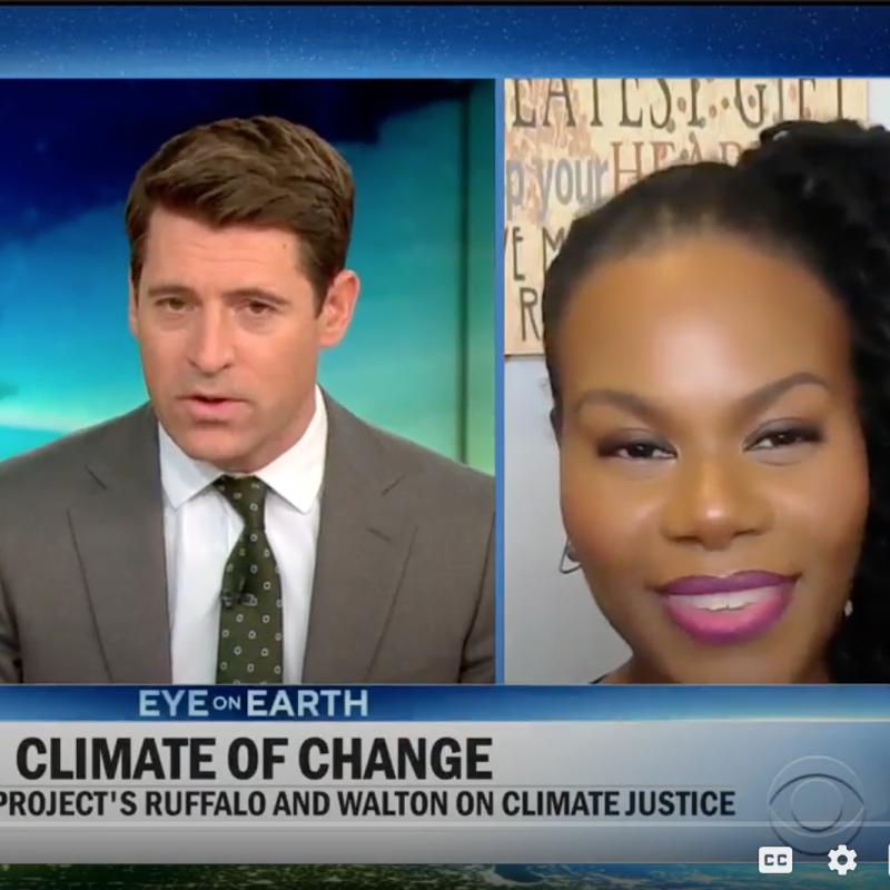 Screenshot of Gloria Walton on CBS This Morning.